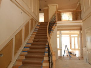 Staircase Curtis Skipper Custom Home